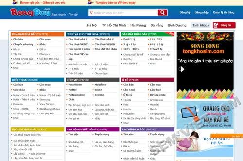 rongbay 10 Website mua bán trực tuyến hàng đầu tại Việt Nam