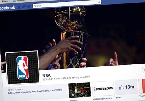 """NBA Những thương hiệu được """"Like"""" nhiều nhất trên Facebook"""